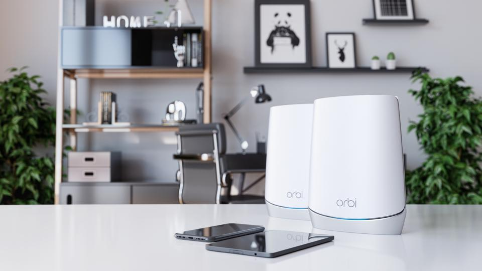 Orbi Mesh Router on a desk