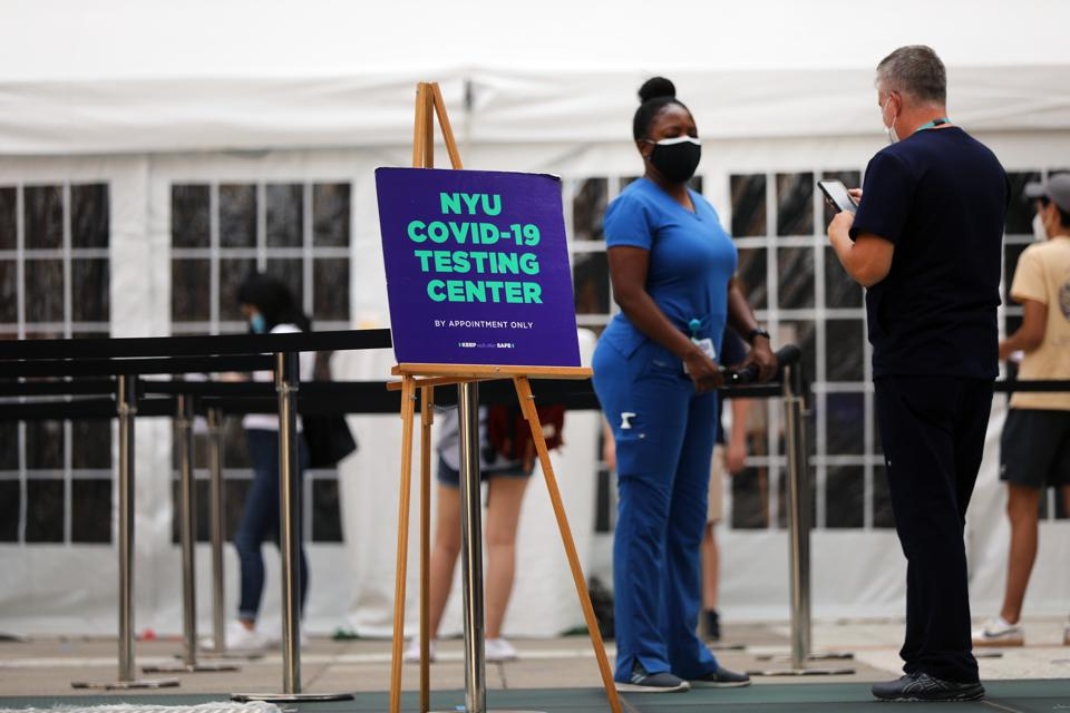 NYU Sets Up COVID-19 Testing Tent Ahead Of Start Of School