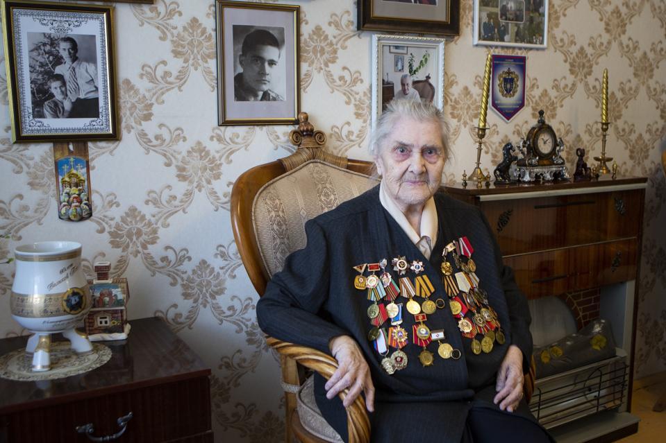 Russian female World War II veteran
