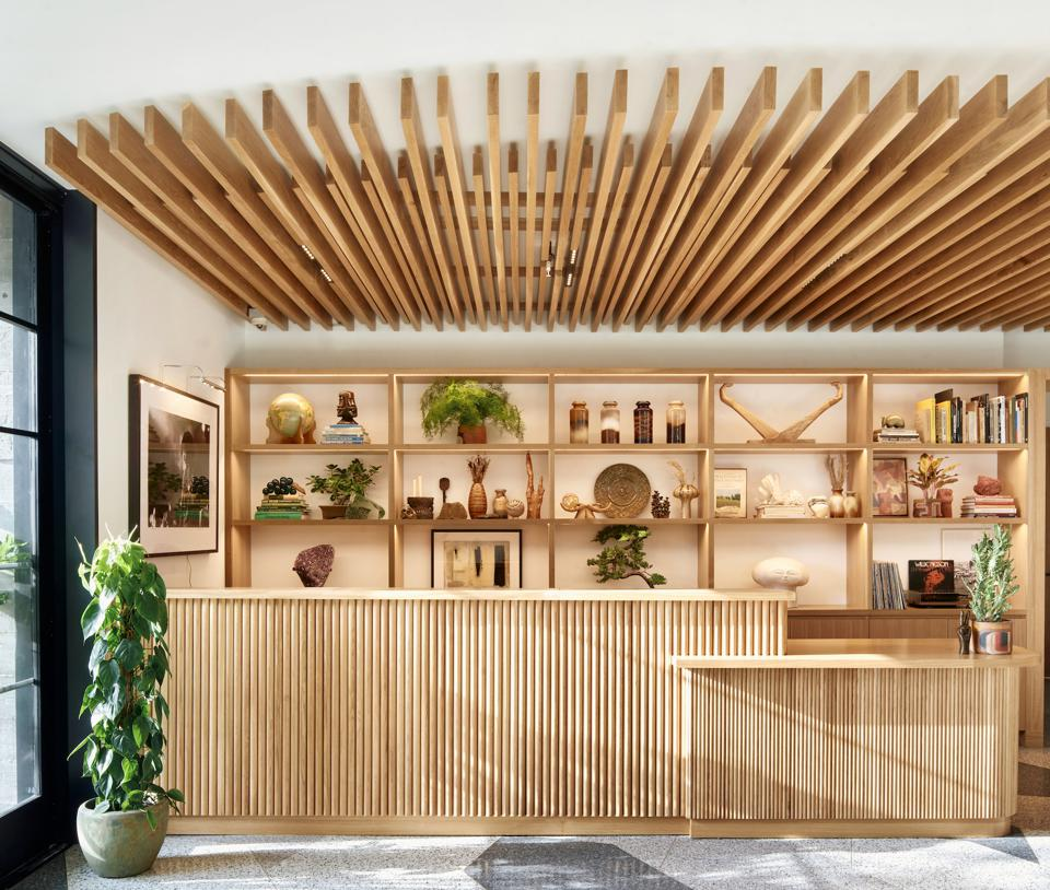Hotel Magdalena is the first mass timber hotel constructed in North America.