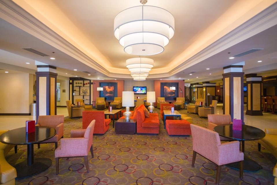 Providence Marriott Downtown hotel lobby