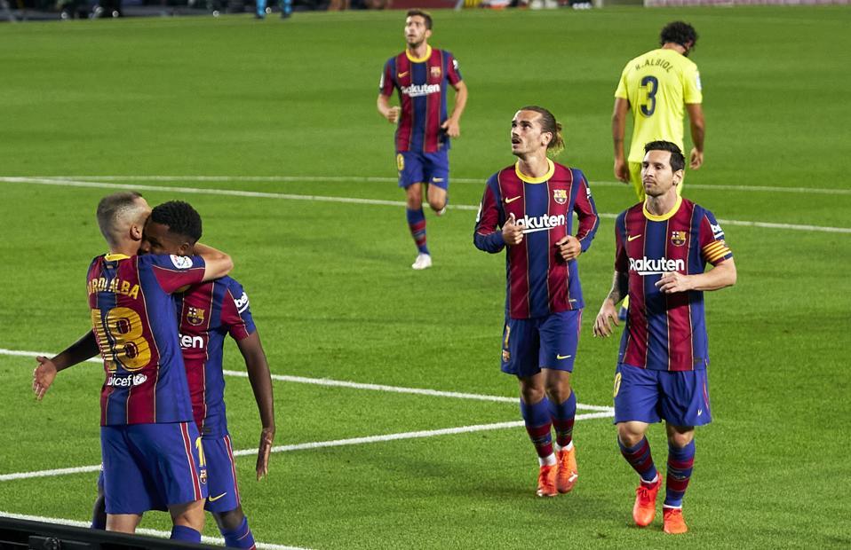 Ansu Fati scored two in FC Barcelona's impressive win over Villarreal.