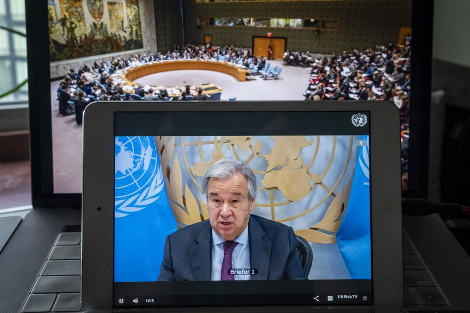 Security Council: OPEN VTC in connection with Maintenance of international peace and security: Global governance post Covid-19 (S/2020/883)