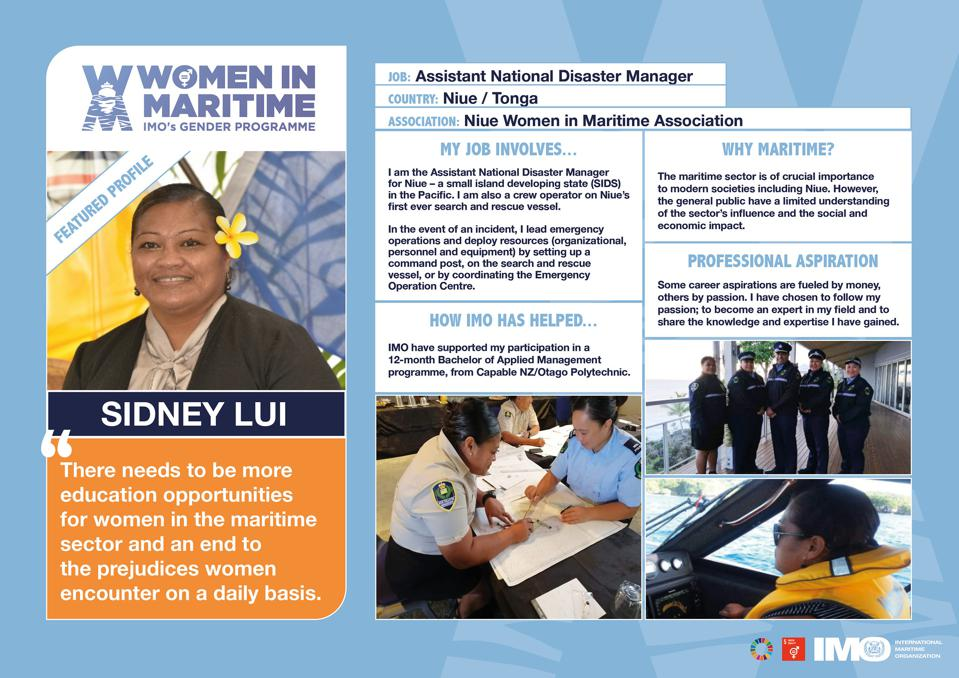 The IMO put a lot of marketing efforts into gender equality but have not followed up with the actions needed to ensure a more gender balanced working environment.