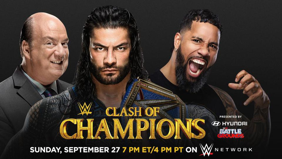 Roman Reigns defended the WWE Universal Championship against Jey Uso at WWE Clash of Champions.