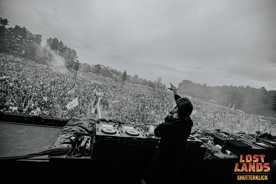 Excision performing at his music festival, Lost Lands.