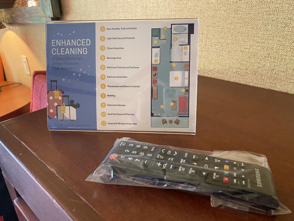 Enhanced cleaning measures at Disney's Polynesian Village Resort