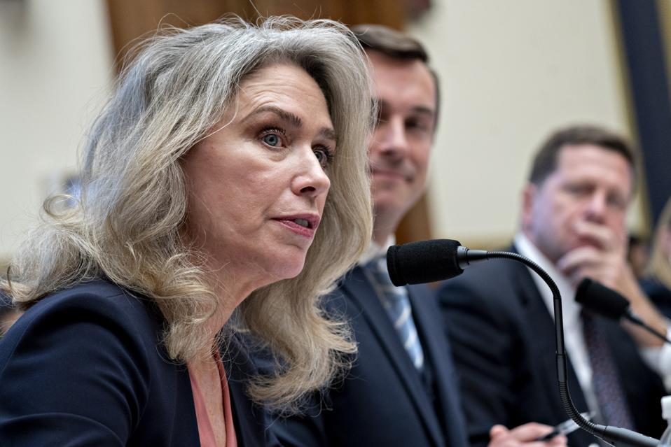 Allison Herren Lee, commissioner of the U.S. Securities and Exchange Commission (SEC), Photographer: Andrew Harrer/Bloomberg
