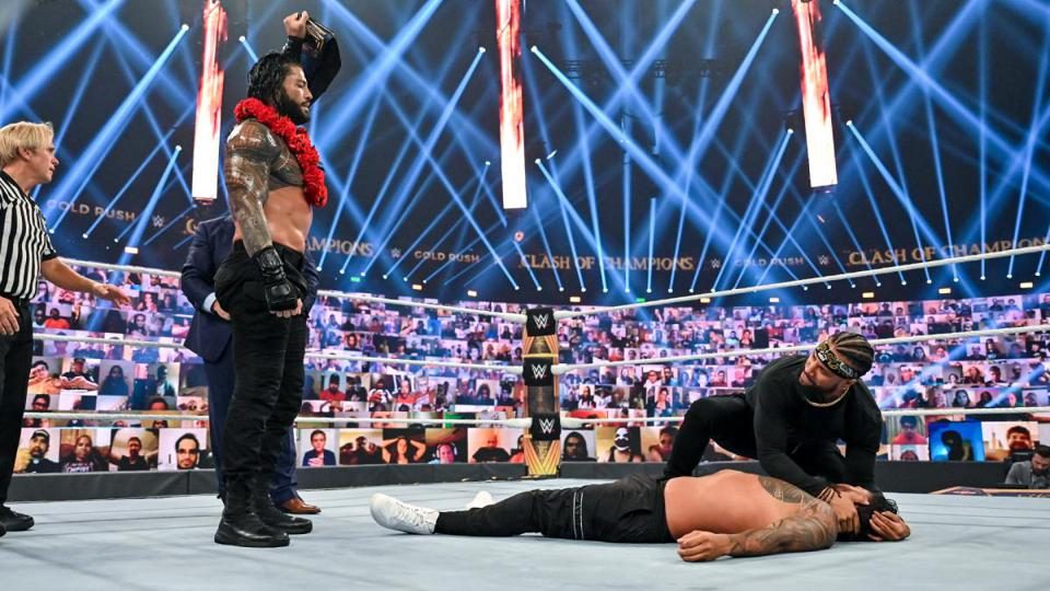 Roman Reigns retained the WWE Championship at Clash of Champions 2020.