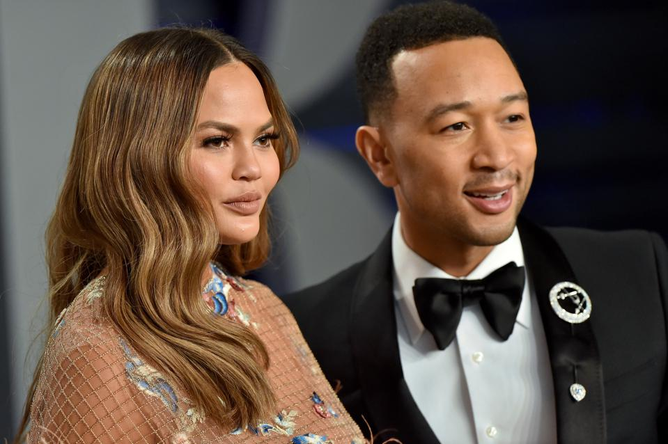 John Legend, Chrissy Teigen, Beverly Hills, contemporary, real estate Vanity Fair Oscar Party