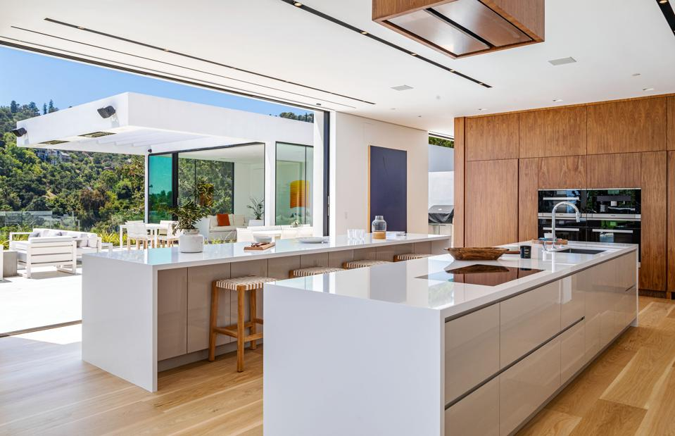 John Legend, Chrissy Teigen, Beverly Hills, contemporary, kitchen, luxury real estate
