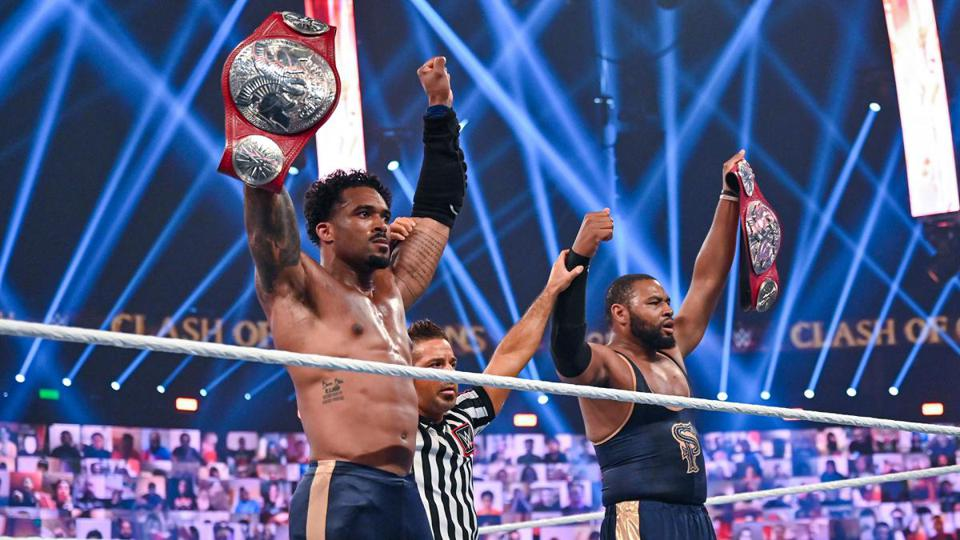 The Street Profits retained the Raw Tag Team Championships at Clash of Champions 2020.
