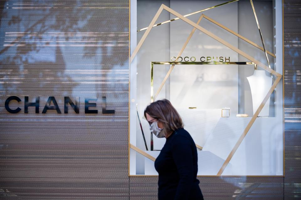 Chanel SA flagship luxury goods store on Avenue Montaigne in Paris