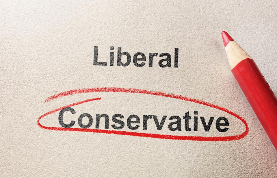 Conservative circled in red