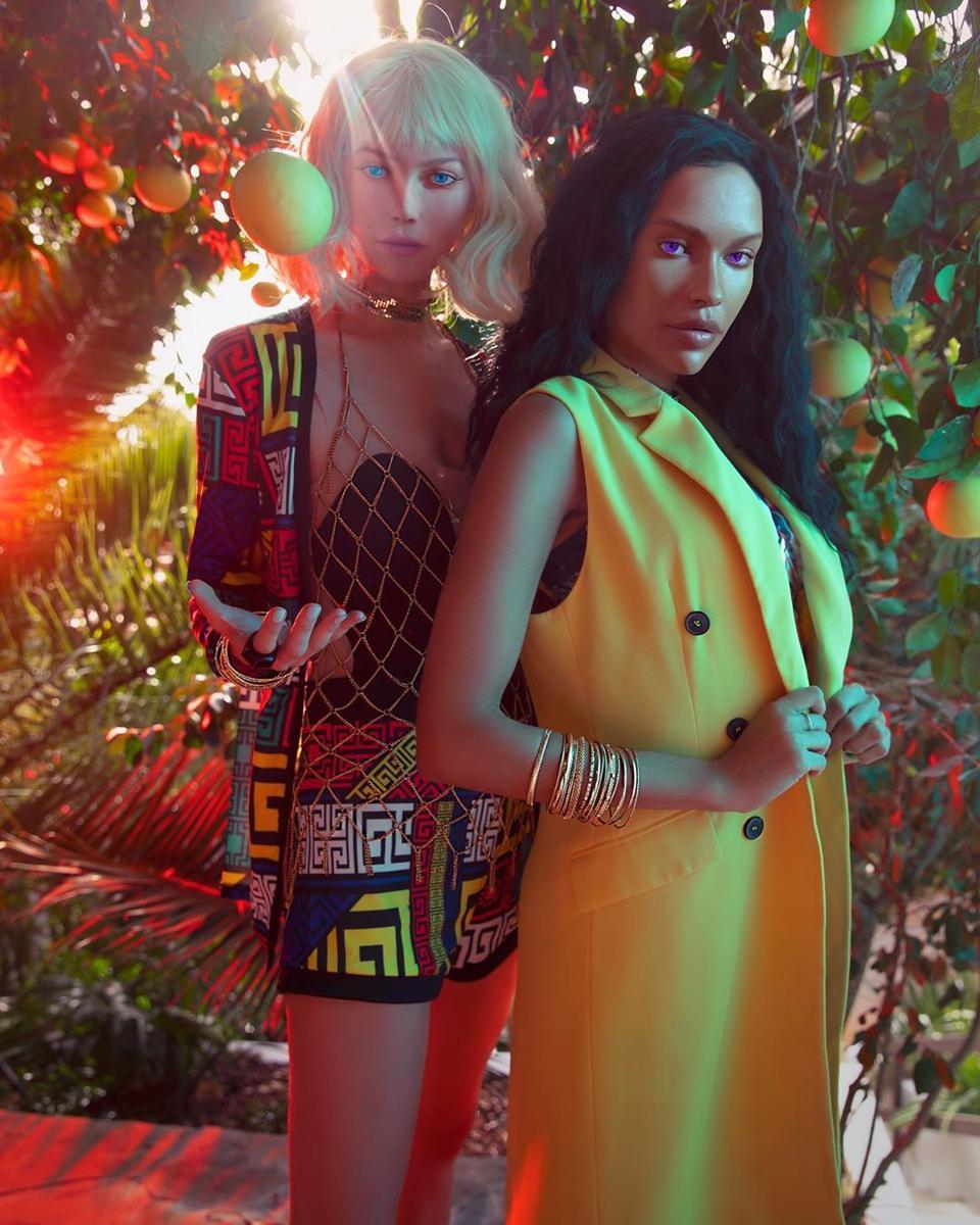 Digital avatar influencers Aliza Rexx with Binxie.