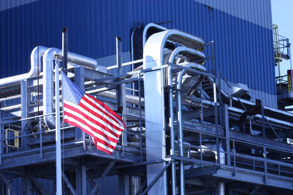 Factory and Flag