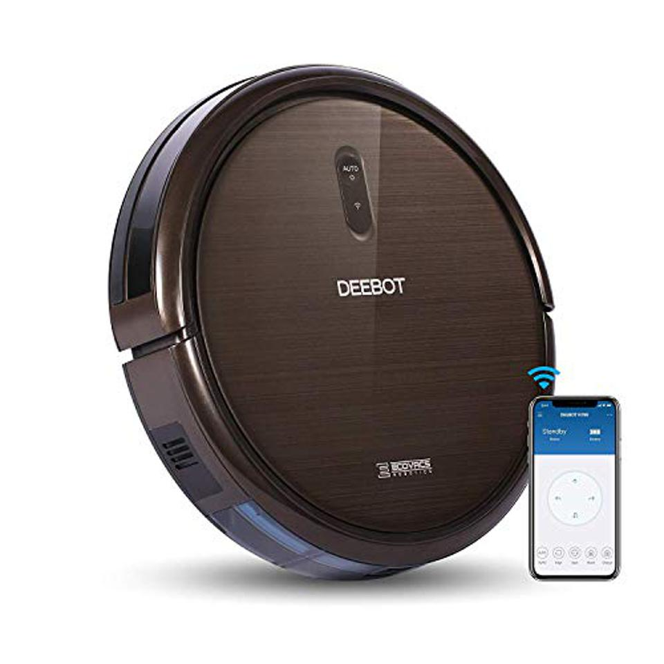 Ecovacs DEEBOT N79S Robotic Vacuum Cleaner with Max Power Suction, Upto 110 Min Runtime, Hard Floors and Carpets, Works with Alexa, App Controls, Self-Charging, Quiet