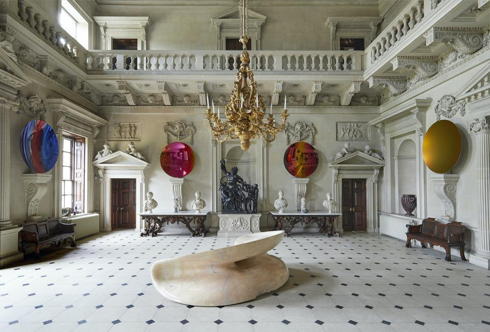 Art works in a stately home.