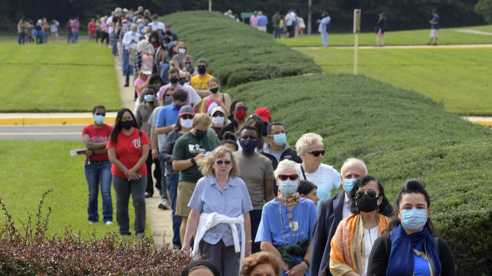 Virginia voters long line