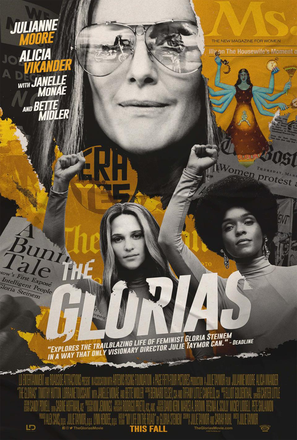 The film The Glorias depicts the life of Gloria Steinem