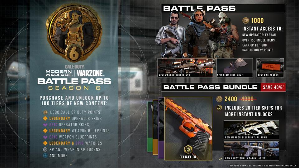 Temporada 6 Warzone Battle Pass