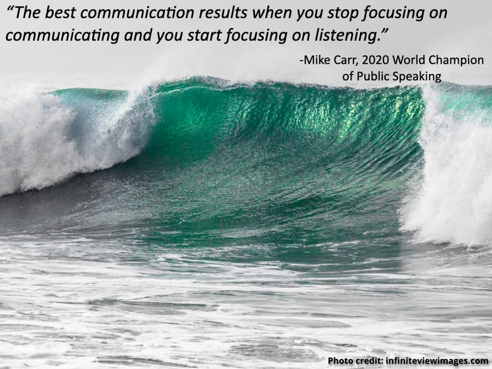 quote from Mike Carr on image by Infinite View Images