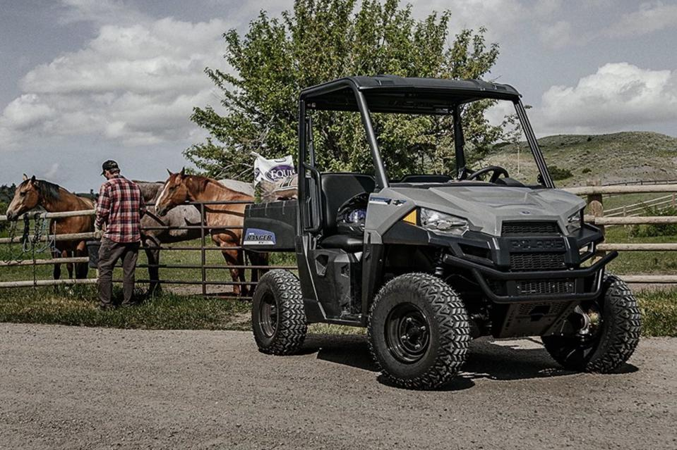 The Polaris Ranger EV side-by-side
