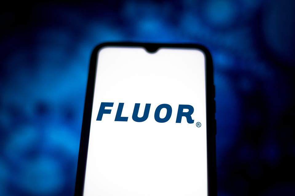 In this photo illustration the Fluor Corporation logo seen...