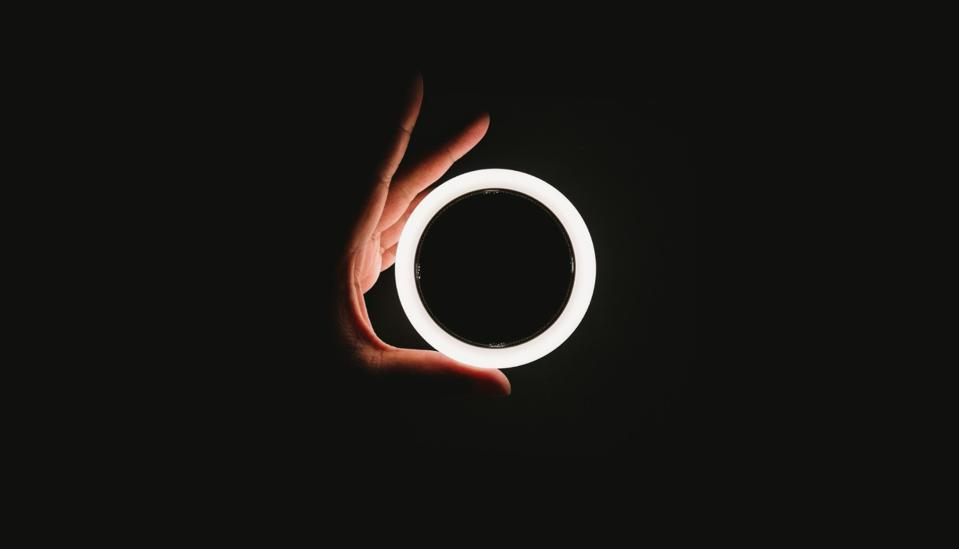 Picture of a circle lit up