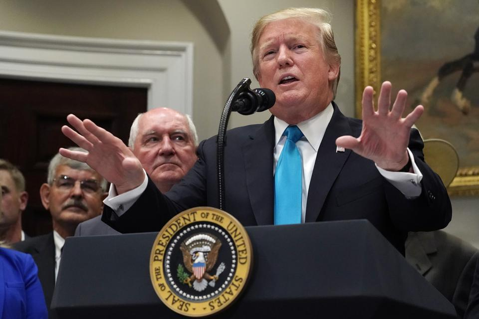 President Donald Trump Delivers Remarks At The White House In Support Of Farmers And Ranchers