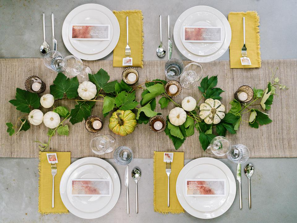 tablescape with pumpkins
