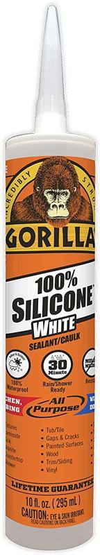 Gorilla White 100 Percent Silicone Sealant Caulk