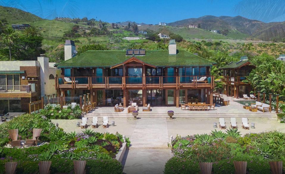 Actor Pierce Brosnan's Thai inspired mansion on Broad Beach