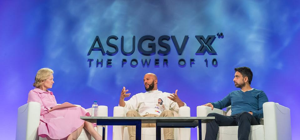 GSV Ventures managing partner Deborah Quazzo joins Common and Khan Academy founder Salman Kahn for a panel at the 2019 ASU+GSV Summit