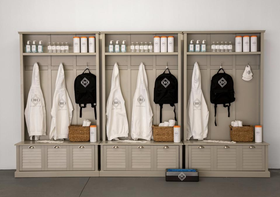 A luxury branded disinfection room