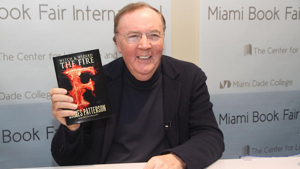 Author James Patterson appears at Miami International Book Fair in 2012. GETTY IMAGES