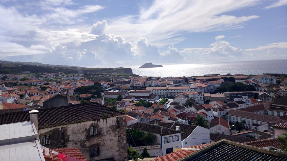The skies above Angra do Heroismo in Terceira, Azores, Portugal, are often dramatic.