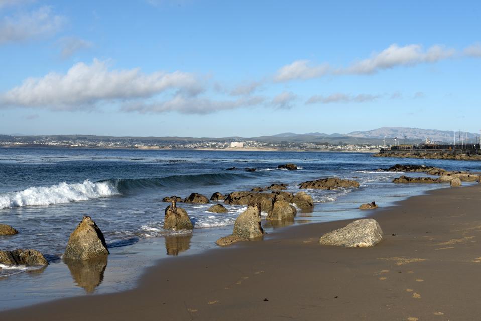 Monterey Bay, a bay of the Pacific Ocean along the central coast of California