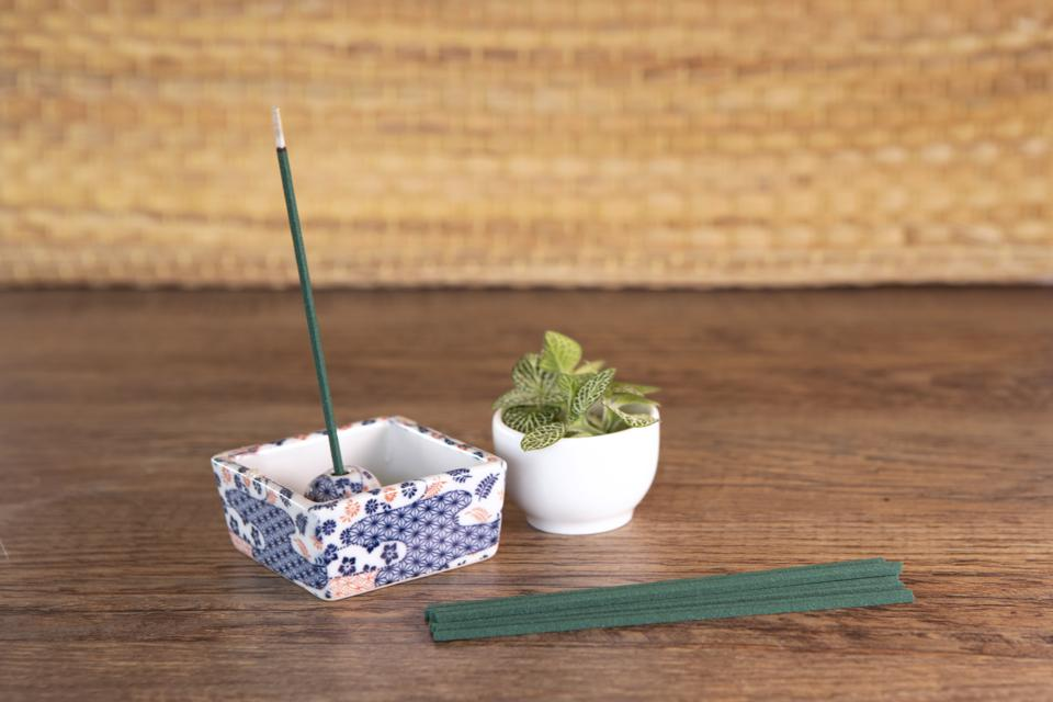Light an incense to set the mood for your home onsen bath.