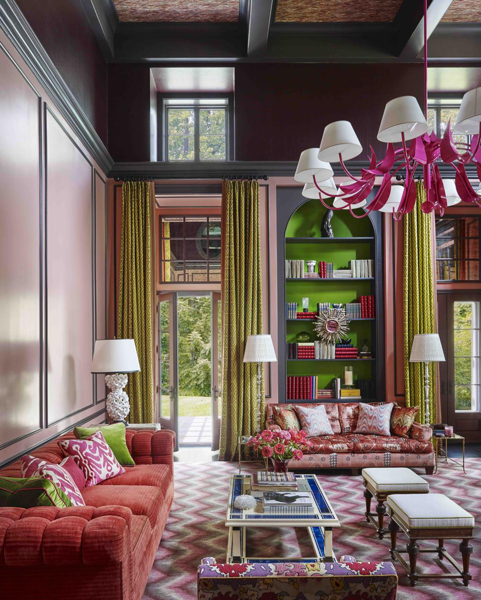 Living room architecture by Pietro Cicognani, decor by Steven Gambrel