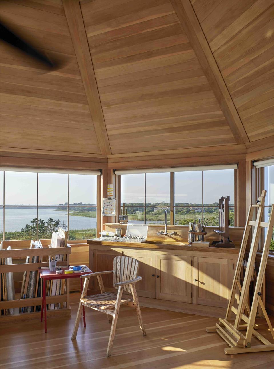 Artist studio designed by Pietro Cicognani for William Rayner