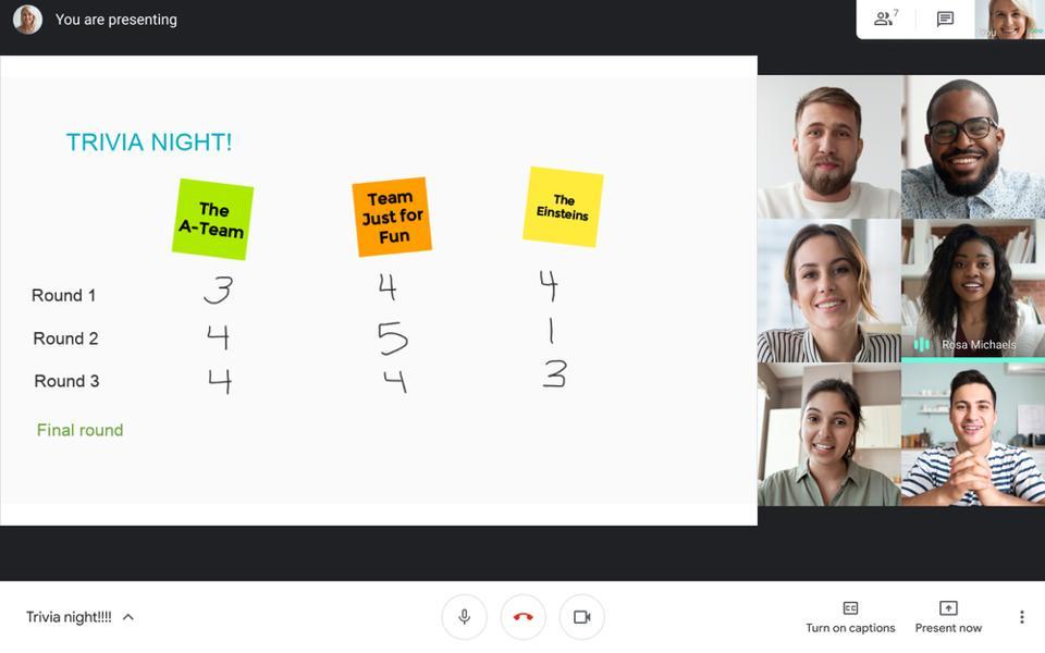 Google Meet whiteboarding