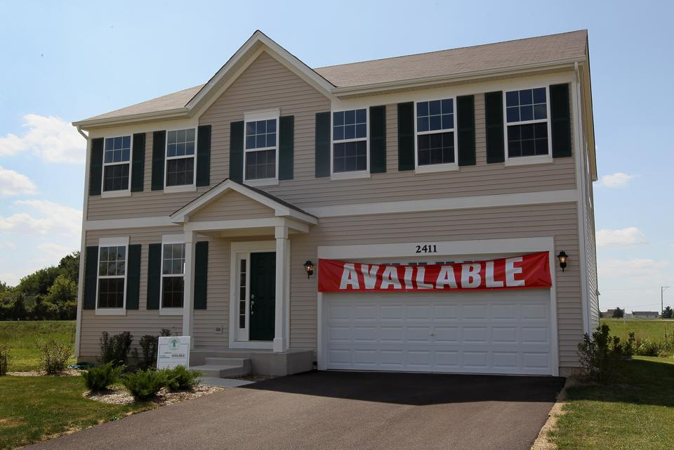 Suburban home for sale in Wauconda, Illinois.