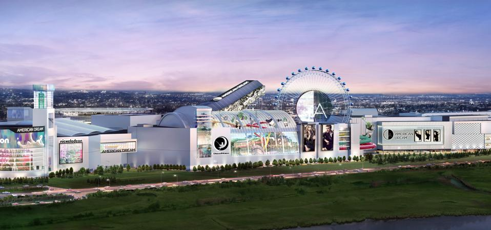 An artist's rendering of what the long-delayed American Dream mall will look like when it is completed.