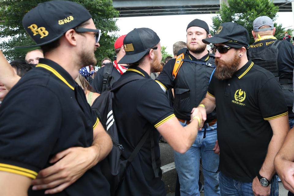 Alt Right Group Holds Rally In Portland, Oregon