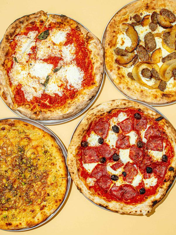 The four pizza sampler from Chef Bianco in Phoenix, AZ