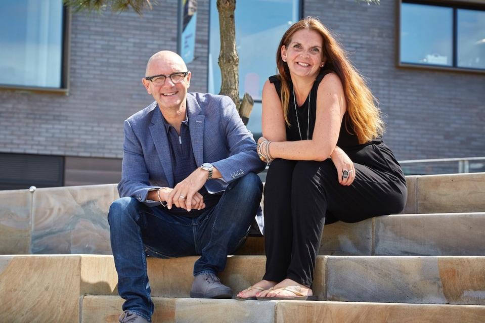 Christina Colmer McHugh and Jonathan Elvidge – Co-founders of Moodbeam.