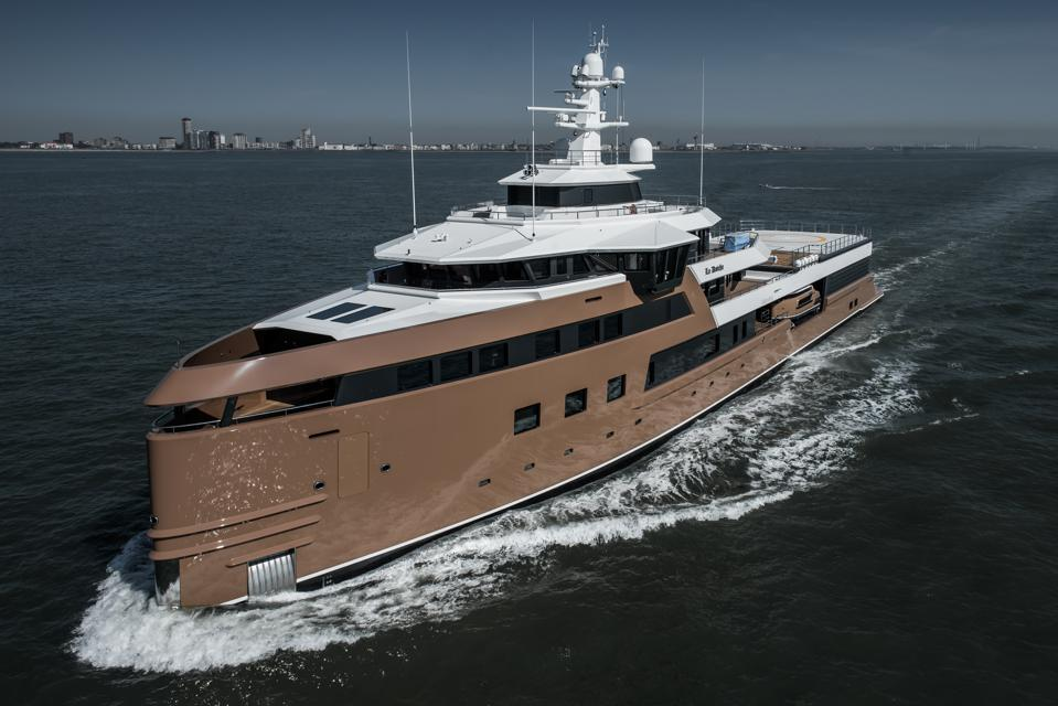 Exclusive photos of Oleg Tinkov's new 252-foot-long expedition yacht La Datcha