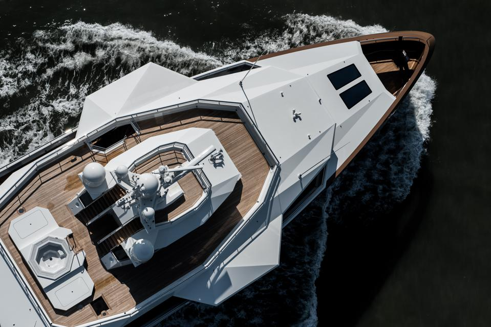 Check out the hot tub on the observation deck of Oleg Tinkov's new 252-foot-long expedition yacht La Datcha