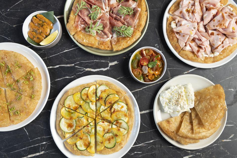 A selection of pizzette fritte from Kimika